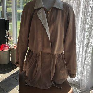 Worthington long lightweight outerwear jacket med